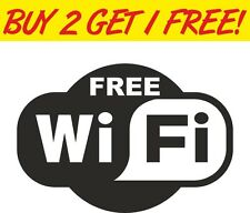 FREE WIFI sign pub shop hotel cafe restaurant vinyl decal window sticker car