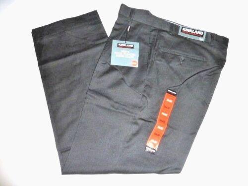 Kirkland Signature Men/'s CHARCOAL Wool Pleated Dress Slacks New with tags