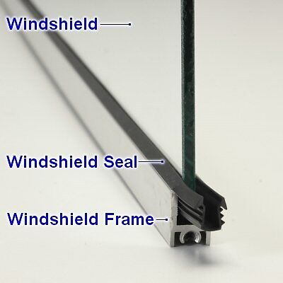 Manx Windshield Seal Goes Between The Glass And The Windshield Frame 123 Inches