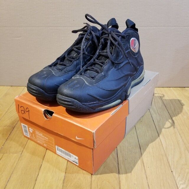 NDS Tim RARE Nike Total Air Foamposite Max Black Silver Tim NDS Duncan 307717-001 Sz 8.5 1a0064