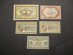 Notgeld-MARKT-BERCHTESGADEN-1-Mark-10-2-x-20-50-Pfennig-1920-Notgeldschein