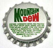 Vintage Mountain Dew Tapa de Botella USA Soda botella Cap Junta plástica