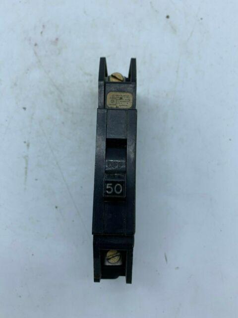 50A Zinsco GTE Sylvania 50 Amp 1 Pole Circuit Breaker Type Q