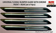 Bumper Protection Flexible Guard for Honda Jazz-Chrome inserts-set of 4