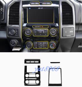 Image Is Loading 4pcs Black Gps Navigation Panel Cover Trim For