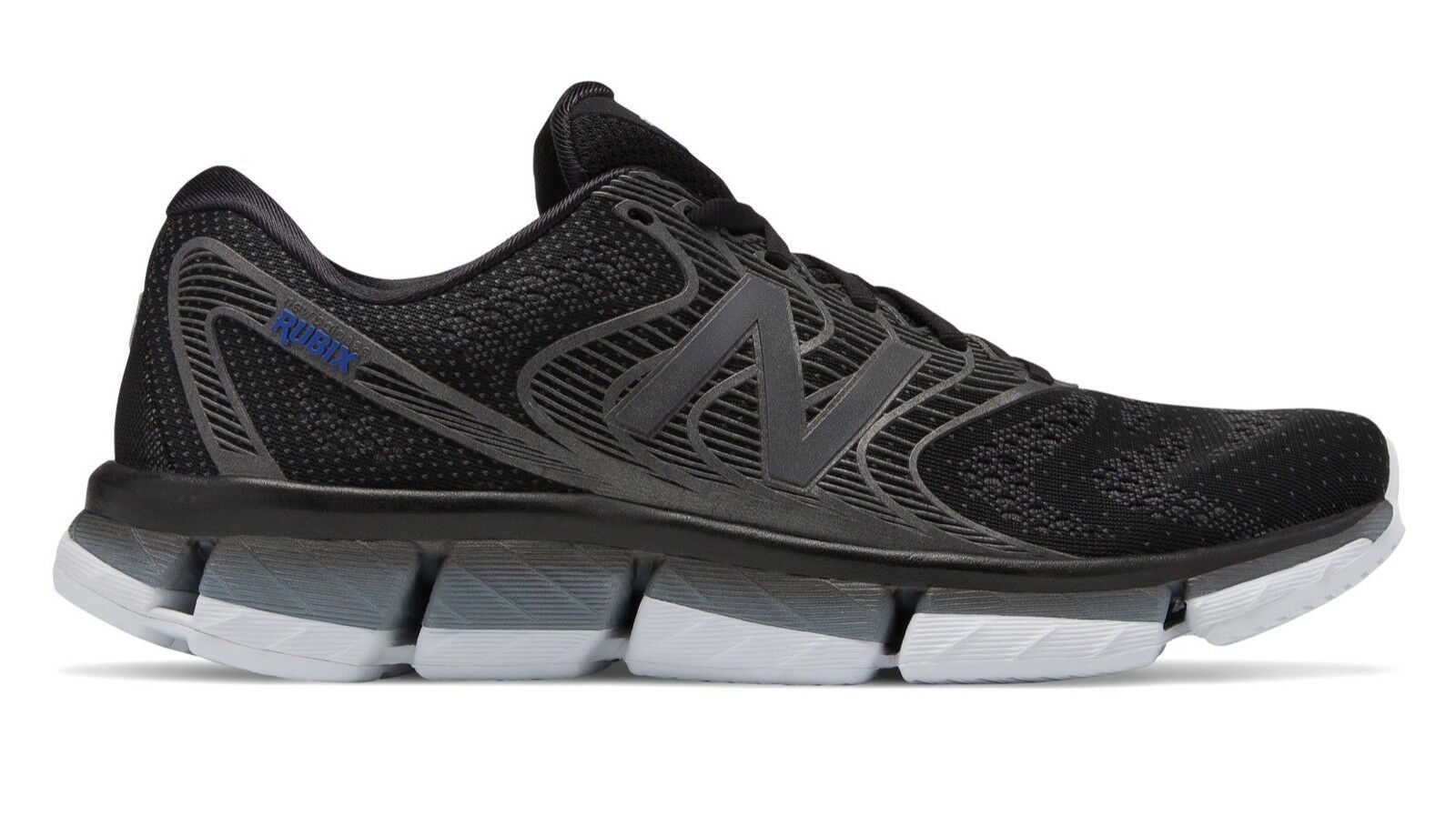 New Balance Men's MRUBXBK Running shoes Black with Steel Rubix Brand New