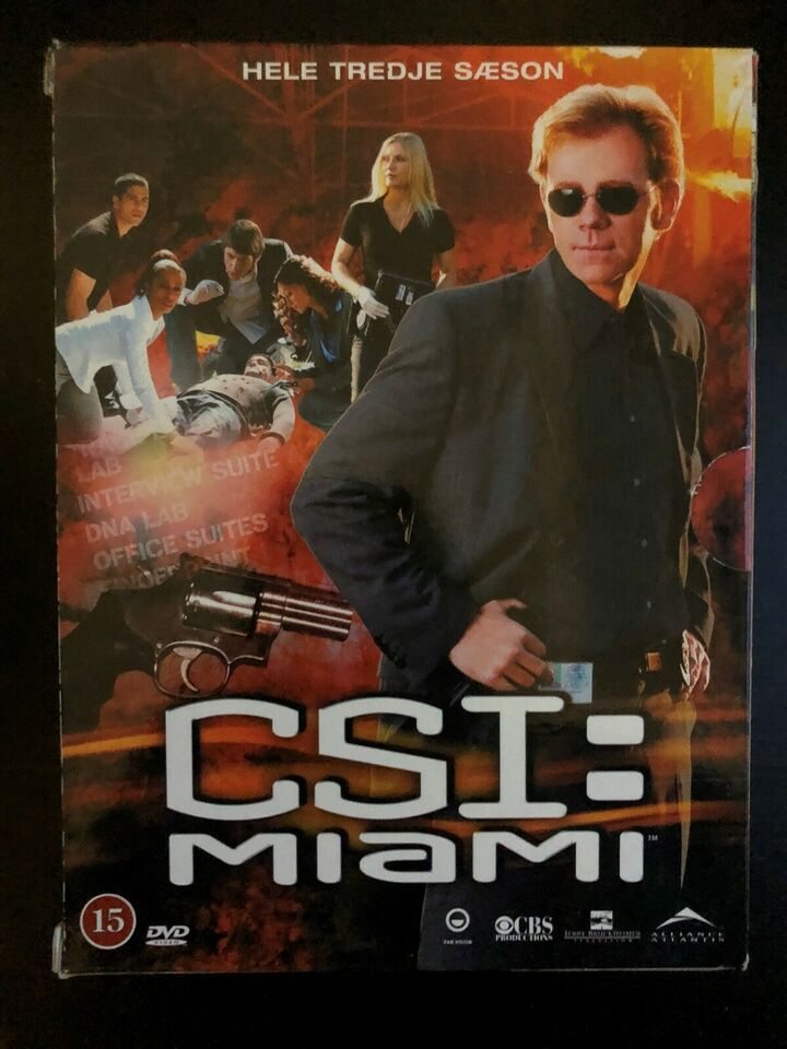CSI sæson 9 (bluray) og CSI: Miami sæson 3 (DVD), Blu-ray,