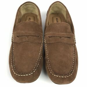 ALFANI Mens Suede Shoes NEW 10M Saddle