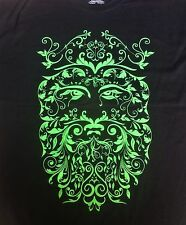 XLg Green Man Shirt Black Pagan Wiccan Witchcraft Druid mythology