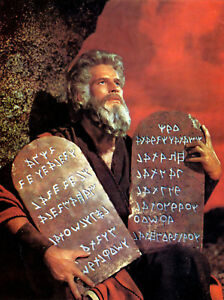 Images of moses with the ten commandments