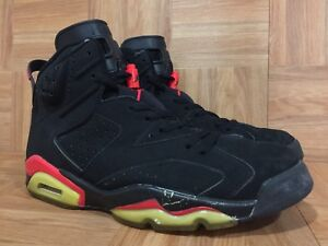 45679c891c92 RARE🔥 Nike Air Jordan 6 VI + Infrared Black Deep Infrared Sz 10 ...