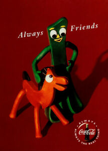 Gumby and Pokey Always Friends Coca-Cola Ad Replica 13 x ...