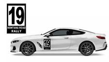 Custom Door Track Racer Race Racing Rally Sport Car Number Vinyl Decal Sticker