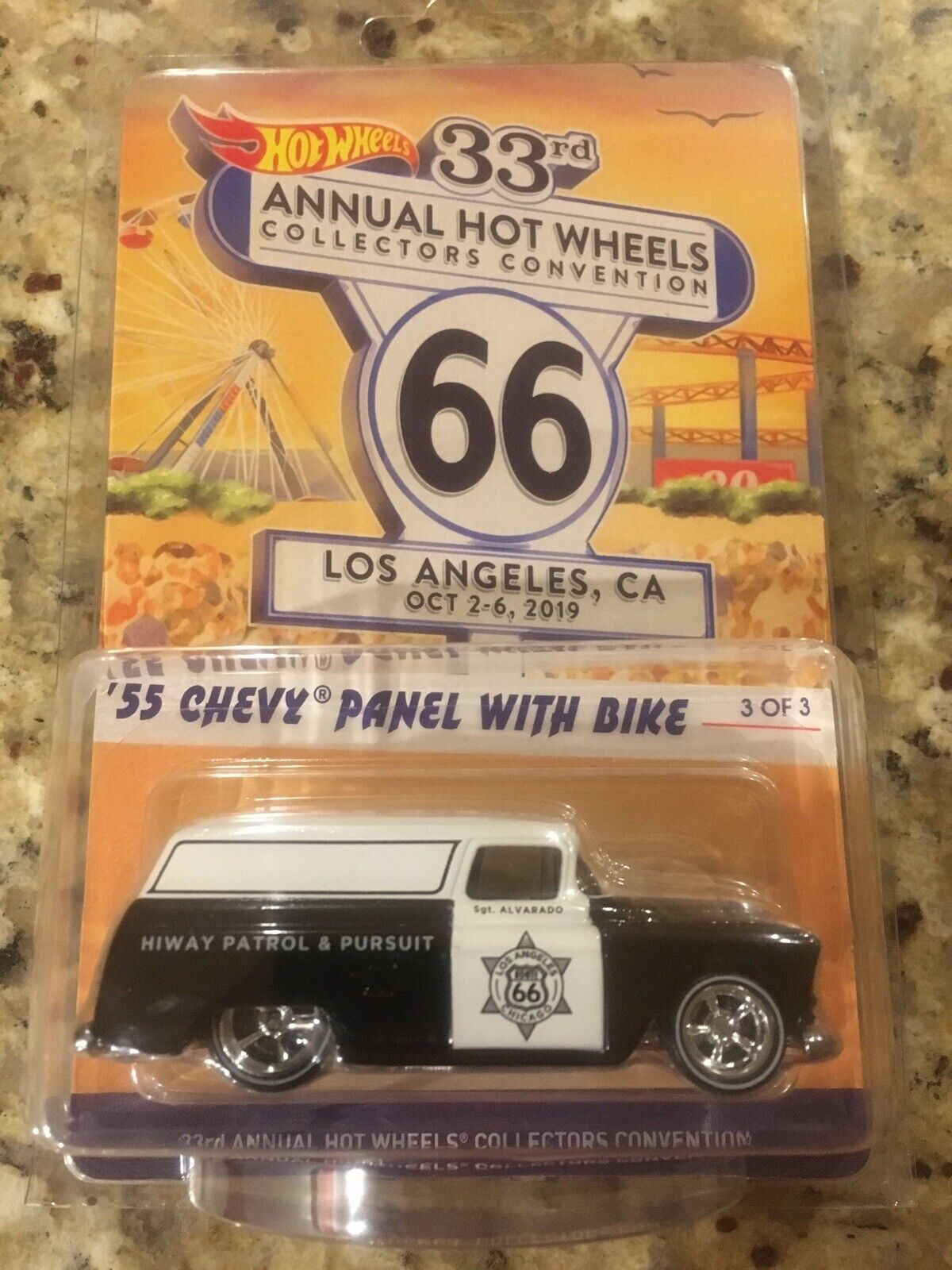 2019 Hot Wheels 33rd Collectors Convention  3 '55 Chevy Panel with Fahrrad Finale