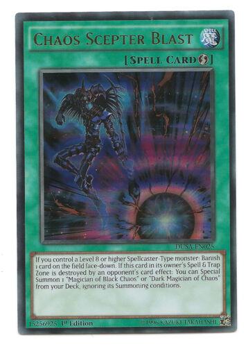 Chaos Scepter Blast DUSA-EN025 Ultra Rare Yu-Gi-Oh Card 1st Edition Mint New