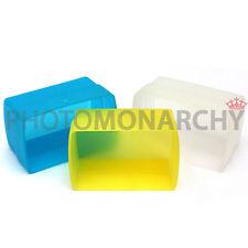 SET 3 DIFFUSORI per Flash OLYMPUS FL40 FL50 G40 FL 40 50 G 40 bianco giallo blu