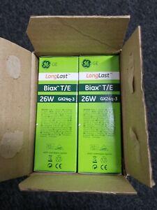 10-x-GE-26w-GX24q-3-Biax-T-E-4-pin-Warm-White-F26TBX-SPX30-830-A-4P-Bulb-Lamp