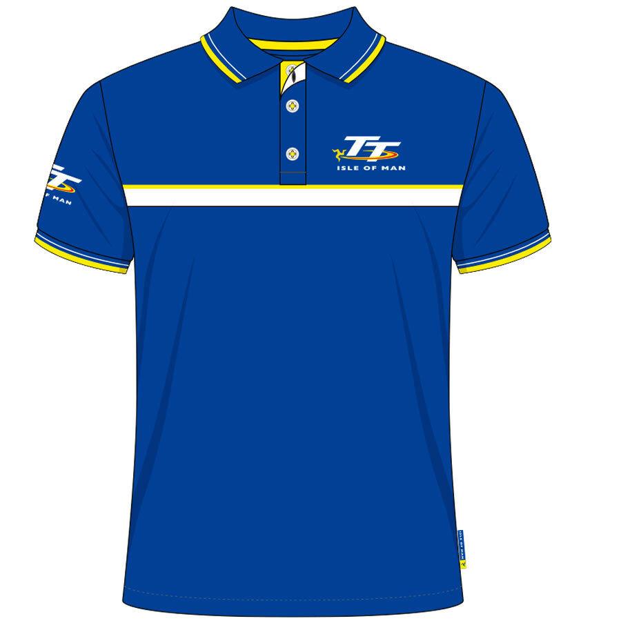 Official Isle of Man TT Races Royal Blau Blau Blau   Gelb Polo Shirt - 19AP6 | Hohe Qualität und Wirtschaftlichkeit  | Spielen Sie Leidenschaft, spielen Sie die Ernte, spielen Sie die Welt  a7476e
