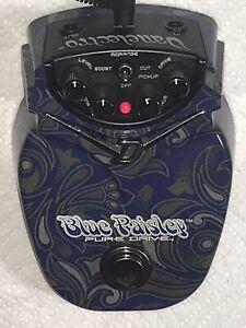 à Condition De Bleu Danelectro Paisley Pure Drive Overdrive Boost Pédale-afficher Le Titre D'origine Excellent Effet De Coussin