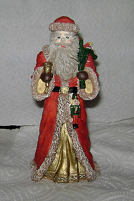 "Vintage 1960's Hand Painted Ceramic Bisque ""Santa"" Very Near Mint Free Ship."