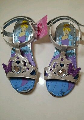 Disney Cinderella shoes silver Girls Size 13 (31/32) party kids