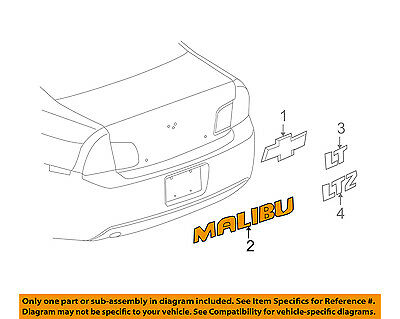 GENUINE GM 2008-2015 Chevrolet Malibu Trunk MALIBU Emblem GM# 22842005
