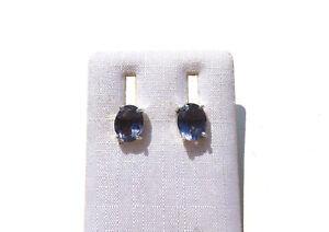Iolith-Wassersaphir-facett-Ohrstecker-8-5x7-mm-925-Silber-E7622-Iolite-earrings