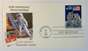 US-Scott-2419-Moon-Landing-2-40-Unaddressed-First-Day-Cover-FDC-USPS-Cachet