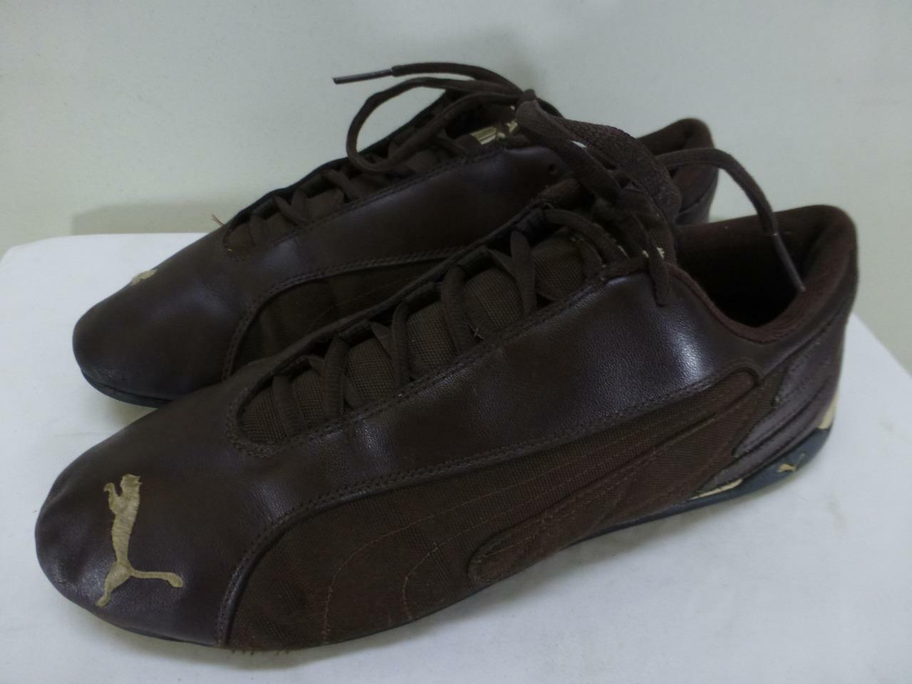 PUMA Replica Cat Low Motorsports brown leather sneakers shoes mens sz 12 46