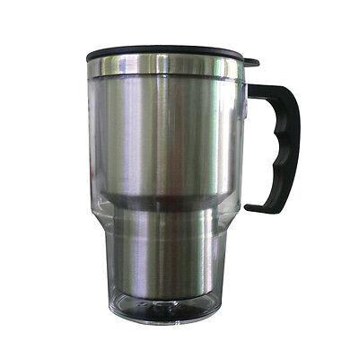 Insulated Stainless Steel Electric Heated Car Travel Mug Coffee Tea Plugin Cup