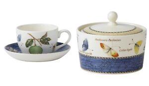 Wedgwood-Sarah-039-s-Garden-Blue-Teacup-Saucer-amp-Sugar-Box-Set-RRP-599-35