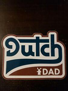 "Dutch Bros Coffee Dutch Dad Sticker Fathers Day 2019 4"""