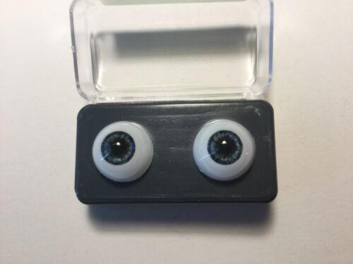 12mm Blue Grey Glastic Realistic Acrylic Doll Eyes