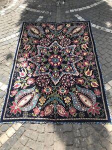 Silk-on-velvet-bedcover-wall-hanging-decoration-textiles-uzbek-handmade-suzani