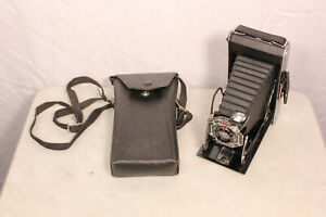 Eastman-Kodak-Six-16-Black-Vintage-Folding-Camera-with-Case