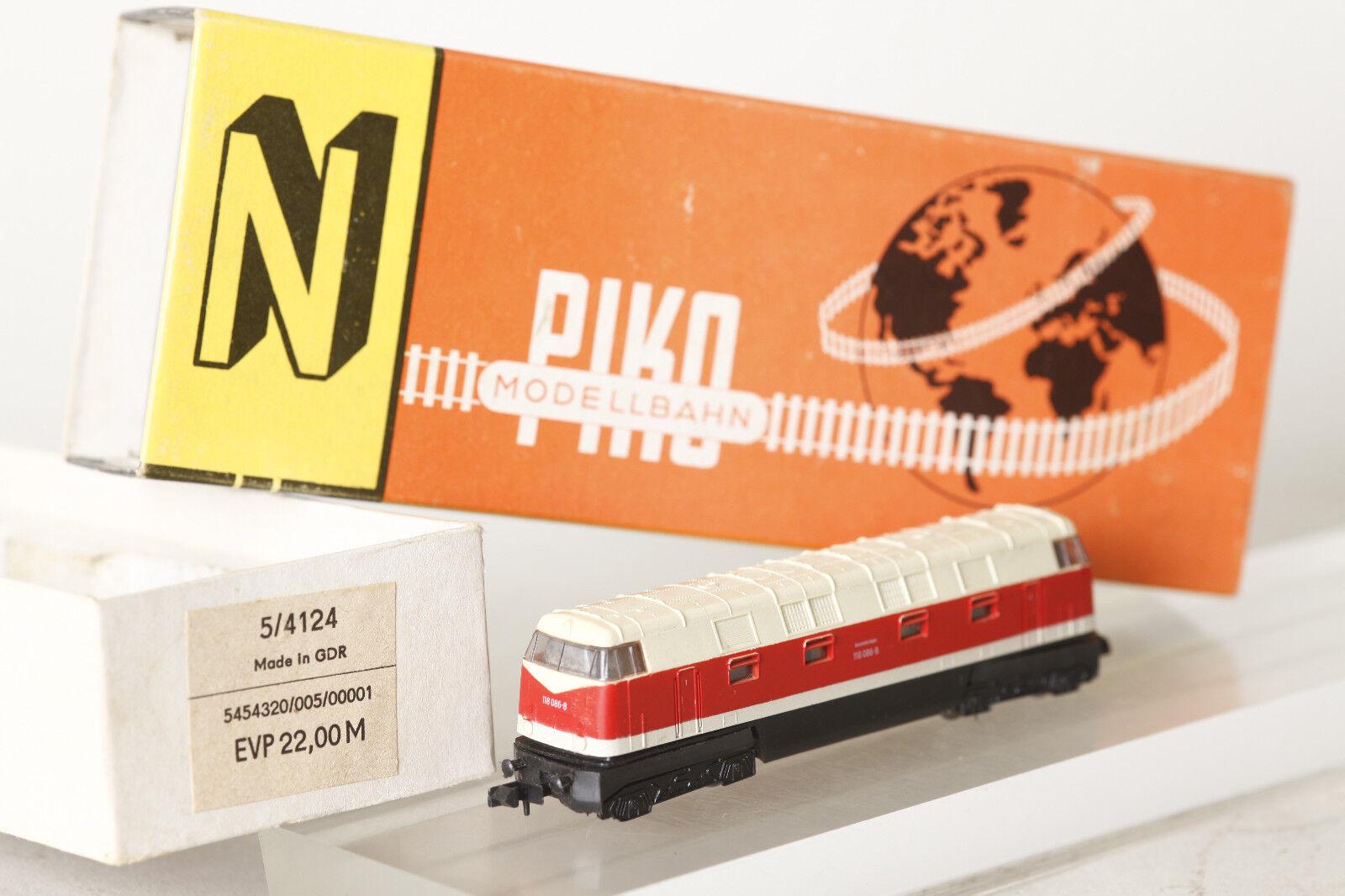 Piko Gauge N 5 4124 Diesel Locomotive Br 118 086-8 Red  Beige Boxed (101293)