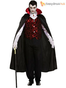 Halloween Adult Vampire Deluxe Fancy Dress Up Outfit Costume One Size Adult