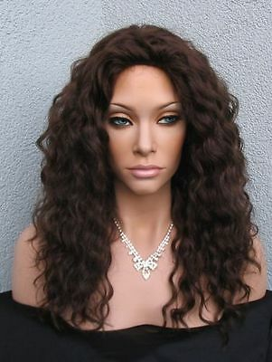 Lockige In Perücke im Echthaar Mix - Human Hair Blend