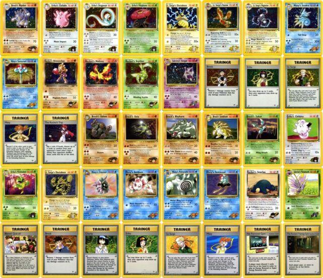 Pokemon Gym Heroes Holo and Non Holo Rares Choose