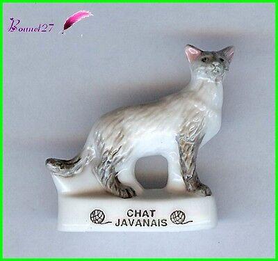 """Feve Les Races de Chat Cat Edition Atlas /"""" Le Javanais /""""  #A10"""