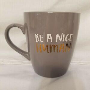 "Threshold Porcelain Coffee Tea Mug Cup ""Be A Nice Human"" 27oz."