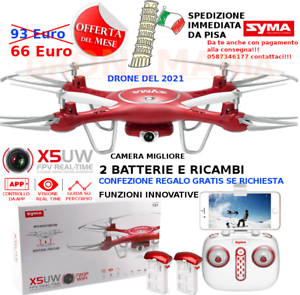 Drone OFFERTA SYMA X5 UW FPV HEADLESS radio e smartphone drone WiFi video HD