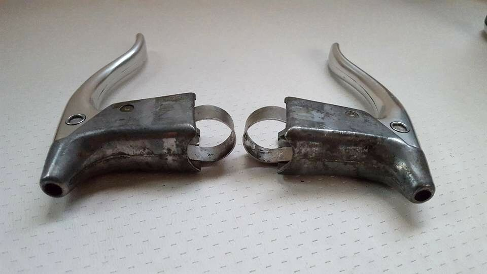 ONE PAIR of SPIDEL MAFAC MODOLO BRAKE LEVERS LEVERS LEVERS SET MADE IN FRANCE  c8cff4