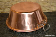 French vintage professional copper bowl huge jam pan preserves Jean Paul Theveux