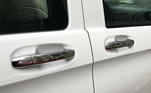 Chrome Car Door Side Handles Cover Trim fits Mercedes-Benz Metris Vito 2014-2020