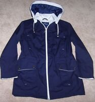 Mackintosh England $120 Navy Blue/stone Spring Poplin Jacket Anorak 1x