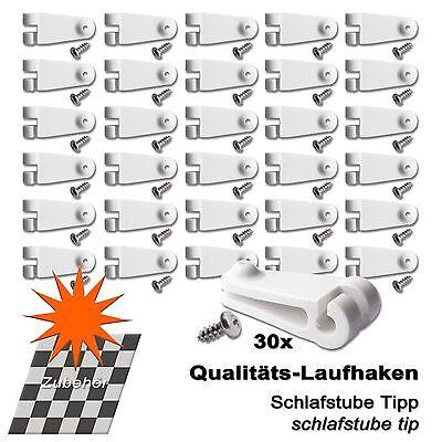 30 x Laufhaken für Seilspannmarkise 2 mm Edelstahlseil, Wintergarten Beschattung