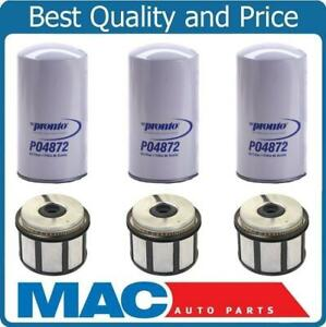 For 99 03 E350 F250 F350 Super 7 3l Diesel Turbo Fuel Filter Oil Filters 6pc Ebay