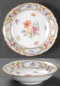 Schumann-Bavaria-EMPRESS-DRESDEN-FLOWERS-Fruit-Dessert-Sauce-Bowl-6545454