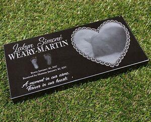Details about 8x12x1 Custom Engraved Granite Memorial Headstone Marker